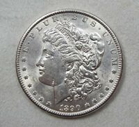1890 MORGAN DOLLAR ALMOST UNCIRCULATED SUPER SILVER $