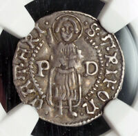 1553 KOTOR  VENETIAN PROTECTORATE  PAOLO DONA. SILVER  GROSSO COIN. NGC XF45