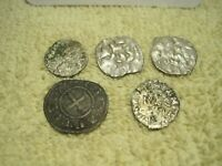 MIXED LOT OF 5 HAMMERED MEDIEVAL COINS  G19
