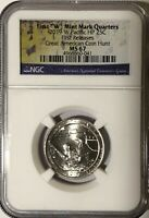 2019 W NGC MS67 FIRST RELEASES GUAM QUARTER AMERICAN COIN HU