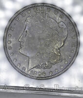 $1 ONE DOLLAR 1896 O AU58 ANACS VAM-16 R5 MORGAN SILVER STEEL BLUE TONE