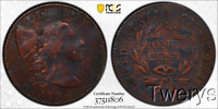 1794 LIBERTY CAP LARGE CENT 1C S 28 HEAD OF 1794 PCGS VF DET