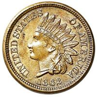 1862 INDIAN HEAD CENT PENNY BU   BETTER DATE CIVIL WAR ISSUE