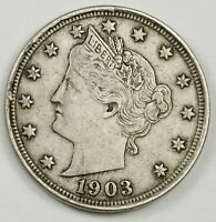 1903 LIBERTY NICKEL.  NATURAL X.F.  139278