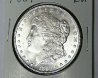 BU 1884 MORGAN SILVER DOLLAR UNCIRCULATED PHILADELPHIA MINT 81619