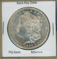 1897 S MORGAN DOLLAR  KEY DATE US SILVER COIN 1897-S BU MS SUPER PQ