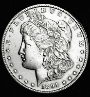 1891-S MORGAN SILVER DOLLAR.HIGH GRADE   INV-A