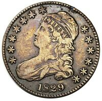 1829 CAPPED BUST HALF DOLLAR COLLECTOR COIN SILVER HALF