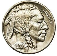 1921 BUFFALO NICKEL NICE GEM BU   GREAT STRIKE