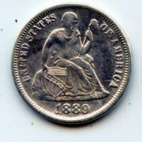 1889-P SEATED LIBERTY DIME -   SEE PROMO