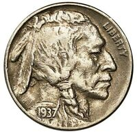 1937 D 3 LEGGED BUFFALO NICKEL    FREE SHIPPING