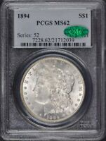 1894 $1 MORGAN DOLLAR PCGS MINT STATE 62 CAC