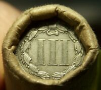 3 CENT NICKEL TAIL/1896 INDIAN HEAD ENDS MIXED ANTIQUE ROLL