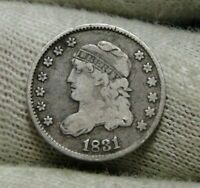 1831 CAPPED BUST HALF DIME H10C 5 CENTS -  OLD COIN, SHIPS FREE  8623