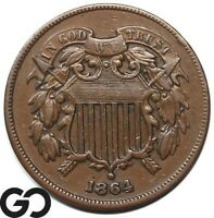 1864 TWO CENT PIECE LARGE MOTTO COLLECTOR COIN