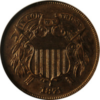 1871 TWO  2  CENT PIECE PROOF NGC PF65RB
