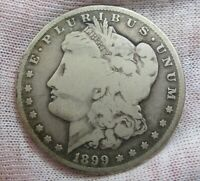 BETTER-DATE 1899-S MORGAN DOLLAR. 25