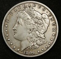 1896-O MORGAN SILVER DOLLAR.  VAM