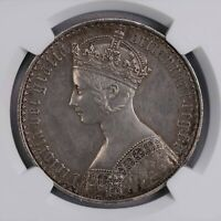 NGC PRD 1847 GREAT BRITAIN GOTHIC TYPE CROWN SILVER PROOF