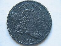 1794 1/2C LIBERTY CAP COPPER HALF CENT EARLY TYPE COIN VF DETAIL