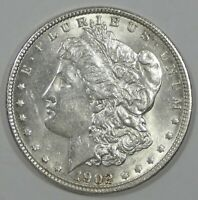 1902 MORGAN DOLLAR AU ALMOST UNCIRCULATED SILVER DOLLAR