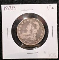 1828 CAPPED BUST HALF DOLLAR 50 CENTS - SQUARE BASE 2 AM 8 LL.   COIN