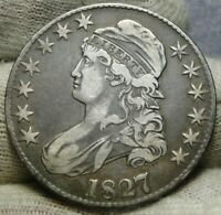 1827 CAPPED BUST HALF DOLLAR 50 CENTS -  COIN SHIPS FREE 8606