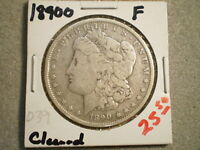 1890-O MORGAN SILVER DOLLAR/ CLEANED  <:UNGRADED:>