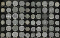 60 SILVER WORLD COINS  GROSS WT 38.0 TROZ  CANADA FRANCE GER