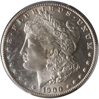 1900-S MORGAN SILVER DOLLAR PCGS MINT STATE 65 GREAT EYE APPEAL FANTASTIC LUSTER