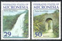 MICRONESIA 1993 WATERFALL/WELL/WATER/FALLS/BUILDINGS/TOURISM 2V SET REF:S1649