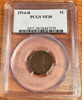 1914-D LINCOLN CENT - PCGS VF 30 - HIGH QUALITY SCANS 7579