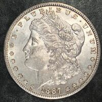 1887-S MORGAN SILVER DOLLAR - NEARLY UNCIRCULATED - HIGH QUALITY SCANS E554