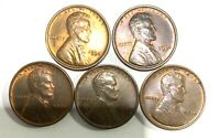 US COIN, 5 ONE CENT 1934 UNCIRCULATED TONED, LINCOLN WHEAT PENNEY