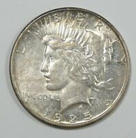 1925-S PEACE DOLLAR ALMOST UNCIRCULATED SILVER $