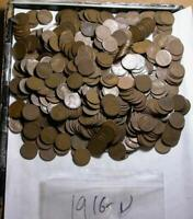 LINCOLN WHEAT CENTS 1916-D LOT OF WITH 500 COINS   R920