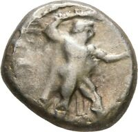 LANZ GREEK CYPRUS KITION AZBAAL STATER HERAKLES LION STAG SI