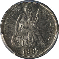 1887-P SEATED LIBERTY DIME PCGS PROOF DECENT EYE APPEAL  STRIKE