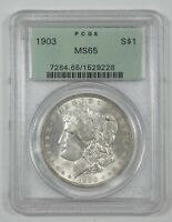 1903 MORGAN DOLLAR CERTIFIED PCGS MINT STATE 65 SILVER DOLLAR OGH OLD GREEN HOLDER