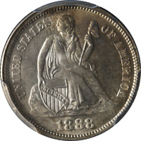 1888-P SEATED LIBERTY DIME PCGS MINT STATE 66 GREAT EYE APPEAL  LUSTER  STRIKE