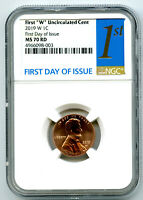 2019 W LINCOLN PENNY NGC MS70 RD FIRST DAY ISSUE UNCIRCULATE