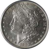 1882-O/S MORGAN SILVER DOLLAR WEAK PCGS MINT STATE 62 BRIGHT WHITE  LUSTER