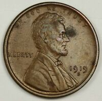 1919-S LINCOLN HEAD CENT.  RED BROWN UNC.  141356