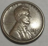 EXTRA FINE  1921S LINCOLN WHEAT CENT.