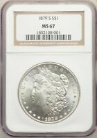 1879-S US MORGAN SILVER DOLLAR $1 - NGC MINT STATE 67