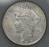 1927 PEACE SILVER DOLLAR $1 CHOICE AU ABOUT UNCIRCULATED  9689