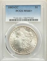 1883-CC US MORGAN SILVER DOLLAR $1 - PCGS MINT STATE 66