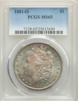 1881-O US MORGAN SILVER DOLLAR $1 - PCGS MINT STATE 65