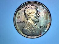 1913 LINCOLN CENT MOSTLY RED UNC CONDITION