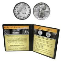 EARLY 20TH CENTURY QUARTERS - BARBER QUARTER AND STANDING LIBERTY QUARTER SILVER